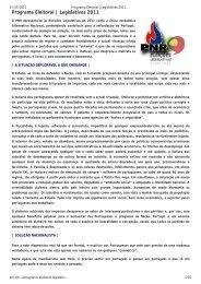 Programa Eleitoral | Legislativas 2011 « PNR – Partido ... - AEFCUP
