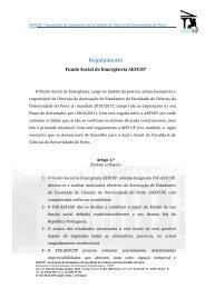 R egulam ento - AEFCUP