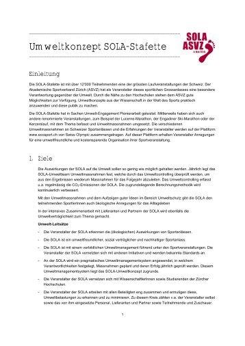 Umweltkonzept SOLA-Stafette