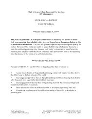 6th district local parenting plan - Oregon Judicial Department - State ...