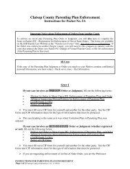 Clatsop County Parenting Plan Enforcement - Oregon Judicial ...
