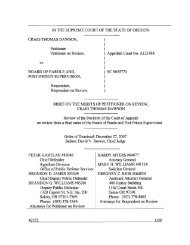 Brief of Petitioner on the Merits - Oregon Judicial Department - State ...
