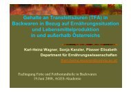 Gehalte an Transfettsäuren (TFA) in Backwaren in Bezug ... - AGES