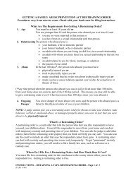 instructions for getting a restraining order - Oregon Judicial ...