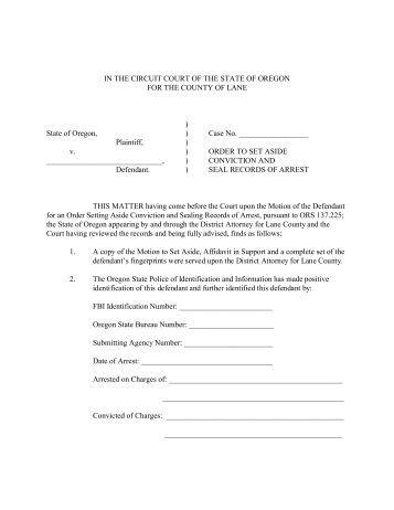 order on motion to set aside default judgment ... - State of Nebraska