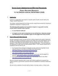 Public Records Request Information - Oregon Judicial Department