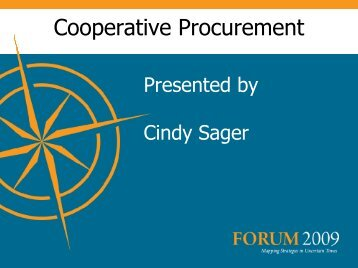 Cooperative Procurement - Division of Purchases and Supply