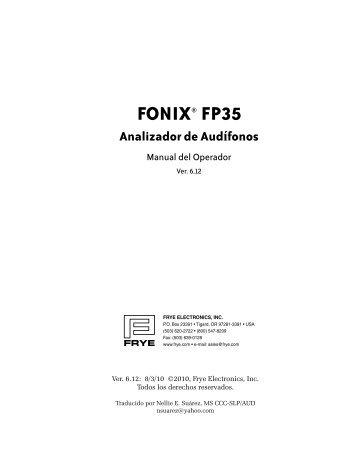 FONIX® FP35 - Frye Electronics
