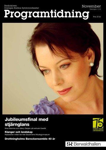 Programtidningen Berwaldhallen November 2011 ... - Sveriges Radio