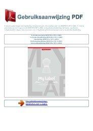my label - GEBRUIKSAANWIJZING PDF