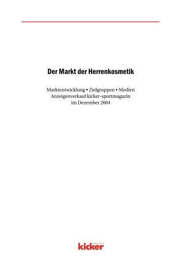 Der Markt der Herrenkosmetik