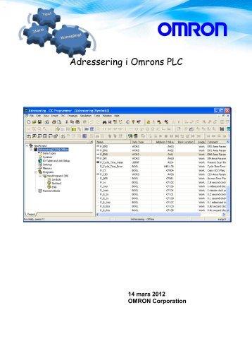 Tips! Adressering i Omron PLC v1.01