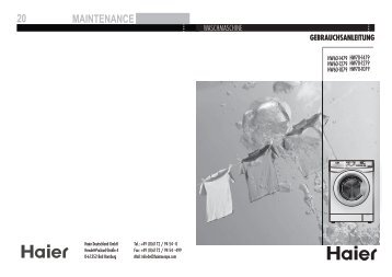 Haier Freezer Instruction manual on
