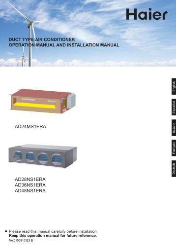 Haier air Conditioner Repair Manuals on