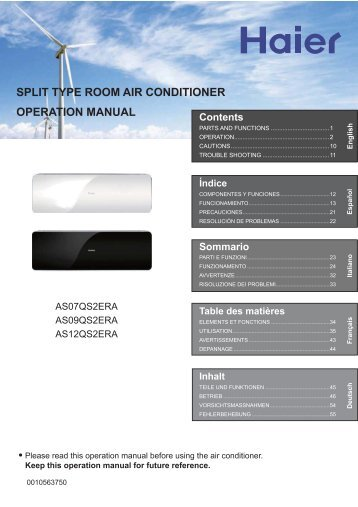 Cassette type air conditioner operation manual and haier split type room air conditioner operation manual haier publicscrutiny Images