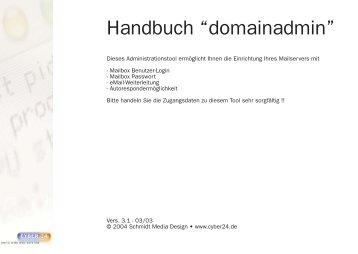 Domainadmin Dokumentation - Cyber24.de