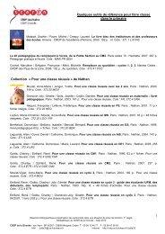 1 Quelques outils de référence pour faire classe dans le primaire ...