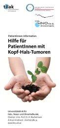 Hilfe für Patient Innen mit Kopf-Hals-Tumoren - Univ. HNO Klinik ...