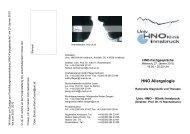 HNO Allergologie - Univ. HNO Klinik Innsbruck - UKI