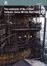 The explosion of No. 5 Blast Furnace, Corus UK Ltd, Port Talbot