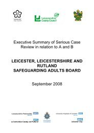Executive Summary of Serious Case Review in relation to A and B ...