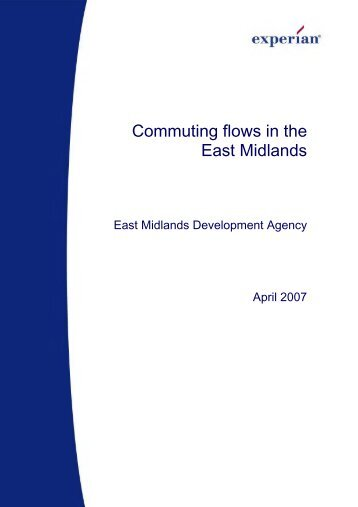 Commuting flows in the East Midlands