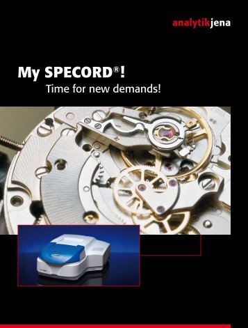 My SPECORD®! Secures perfect measurement ... - Analytik Jena AG