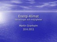 Energi-Klimat Utmaningar och möjligheter