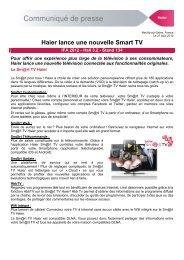 Haier lance une nouvelle Smart TV - Haier.com