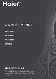 OWNER'S MANUAL - Haier