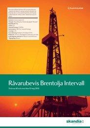 Råvarubevis Brentolja Intervall - Skandia
