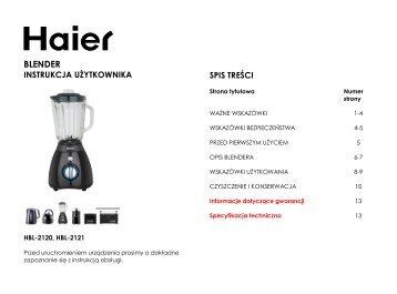 BLENDER - Haier.com