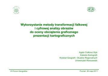 Wykorzystanie metody transformacji falkowej i cyfrowej analizy ...