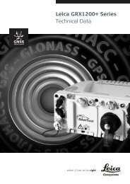Leica GRX1200+ Series Technical Data