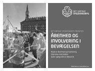 åbenhed og involvering i bevægelsen - Det Danske Spejderkorps