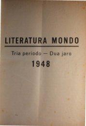 Literatura Mondo 1948. Enhavlisto