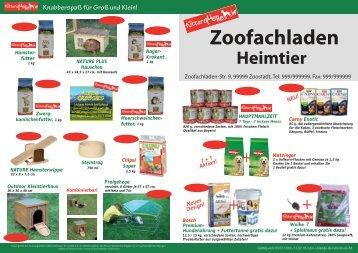 Zoofachladen - Die Futterquelle