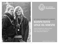 Kompetente unge og voKsne - Det Danske Spejderkorps