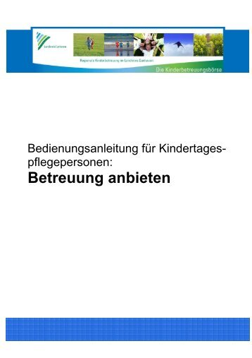 Bedienungsanleitung für Kindertagespflegepersonen