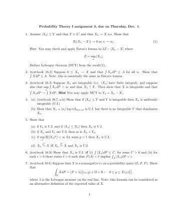probability assignments and solutions