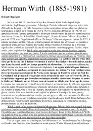 Herman Wirth (1885-1981) - Racines et Traditions en Pays d'Europe