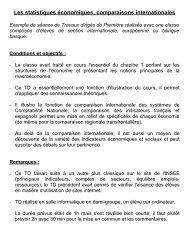 Les statistiques économiques, comparaisons ... - CRDP Aquitaine