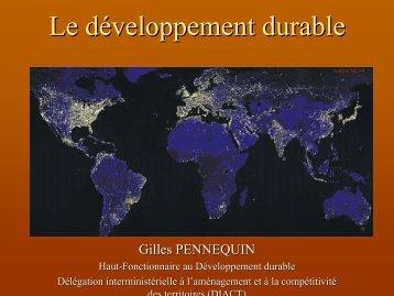 Le développement durable, présentation générale