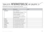 tjekliste anerkendelse af gruppe - Det Danske Spejderkorps
