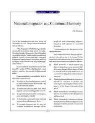 National Integration and Communal Harmony - Government of Orissa