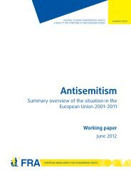 Antisemitism - Summary overview of the situation in the European ...