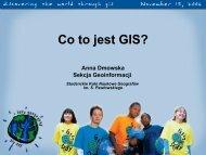 Co to jest GIS? - Wydział Nauk Geograficznych i Geologicznych