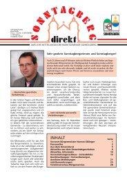 Amtliche Mitteilungen - Gemeinde Sonntagberg