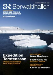 Programtidning Februari 2009 (pdf) - Sveriges Radio