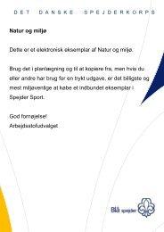 Natur og miljø - Det Danske Spejderkorps